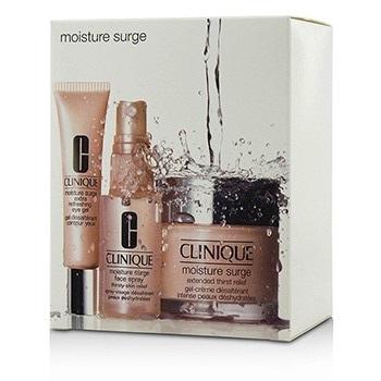 Clinique Moisture Surge Set: Cream 75ml + Eye Gel 15ml + Face Spray 30ml