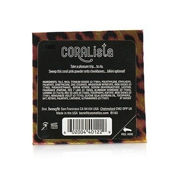 Benefit CORALista Blush For A Tropical Flush