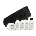 Baxter Of California Travel Kit: Face Wash + Shave Formula + Moisturizer + Shave Balm + Shampoo + Bag