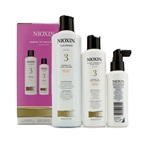 Nioxin System 3 System Kit For Fine Hair, Chemically Treated, Normal to Thin-Looking Hair: Cleanser 300ml + Scalp Therapy Conditioner 150ml + Scalp Treatment 100ml