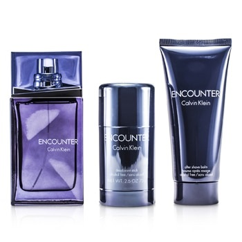 Calvin Klein Encounter Coffret: EDT Spray 100ml/3.4oz+ After Shave Balm 100ml/3.4oz + Deodorant Stick 75ml/2.6oz