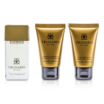 Trussardi My Land Coffret: EDT Spray 30ml/1oz + Shower Gel 30ml/1oz + After Shave Balm 30ml/1oz