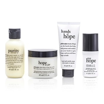 Philosophy Hope for the Best Coffret: Cleasner 60ml/2oz + Mositurizer 60ml/2oz + Eye Cream 15ml/0.5oz + Hand Cream 30ml/1oz