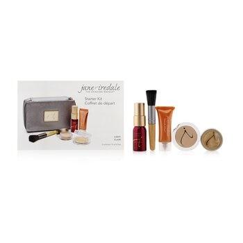 Jane Iredale Starter Kit (6 Pieces): 1xPrimer & Brighter, 1xLoose Mineral Powder, 1xMineral Foundation - # Light