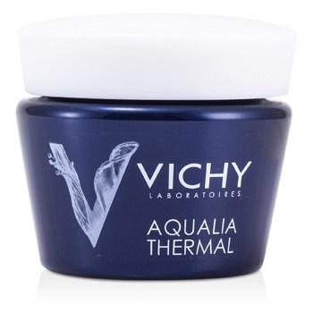 Vichy Aqualia Thermal Night Spa Replenishing Anti-Fatigue Cream-Gel (For Sensitive Skin)