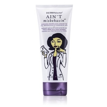 DERMAdoctor Ain't Misbehavin' Medicated AHA/BHA Acne Cleanser (For Oily, Blemish-Prone or Combination Skin)