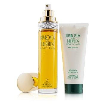 Elizabeth Taylor Diamonds & Emeralds Coffret: EDT Spray 100ml/3.3oz + Perfumed Body Lotion 100ml/3.3oz