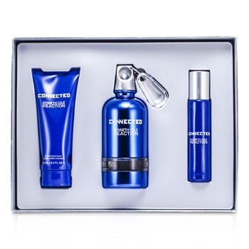 Kenneth Cole Connected Reaction Coffret: EDT Spray 125ml/4.2oz + EDT Spray 30ml/1oz + After Shave Balm 100ml/3.4oz