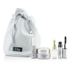 Christian Dior Travel Set: Capture Totale Cream 15ml + Dreamskin 7ml + J'Adore EDP 5ml + Mascara 4ml + Bag