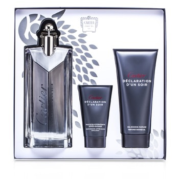 Cartier Declaration d'un Soir Coffret: EDT Spray 100ml/3.3oz + Shower Gel 100ml/3.3oz + After Shave Emulsion 30ml/1oz