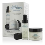 Philosophy Back To Nurture Set: 1x Deeply Replenishing Oil Gelee 15ml/0.5oz, 1x Replenishing Moisture Creme 30ml/1oz