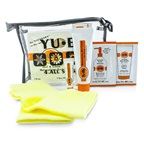 Yu-Be Heel & Elbow Repair Kit: Moisturizing Sock 1 pair + Skin Cream 31ml & 3ml + Foaming Skin Polish 4ml + Body Lotion 5ml