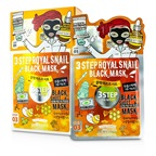 Dewytree 3 Step Black Sheet Mask - Royal Snail