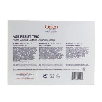 Orico London Age Resist Trio: Face Oil 30ml/1.01oz + Firming Elixir 30ml/1.01oz + Eye Elixir 25ml/0.85oz