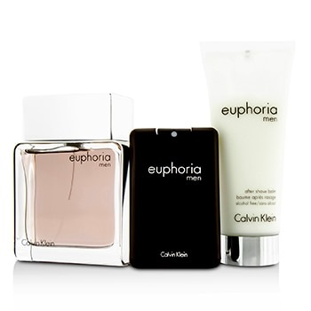 Calvin Klein Euphoria Coffret: EDT Spray 100ml/3.4oz + After Shave Balm 100ml/3.4oz + EDT 20ml/0.67oz