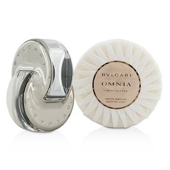 Bvlgari Omnia Crystalline Coffret: EDT Spray 40ml/1.35oz + Scented Soap 150g/5.3oz
