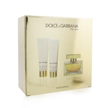 Dolce & Gabbana The One Coffret: EDP Spray 75ml/2.5oz + Body Lotion 50ml/1.6oz + Shower Gel 50ml/1.6oz