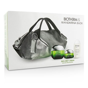 Biotherm Skin Best X Mandarina Duck Coffret: Cream SPF15 N/C 50ml + Night Cream 15ml + Biosouce Cleansing Water 30ml + Handle Bag