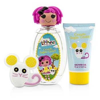 Lalaloopsy Crumbs Sugar Cookie Cute Coffret: EDT Spray 100ml/3.4oz + Shower Gel 75ml/2.5oz + French Barrette