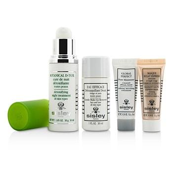 Sisley Botanical D-Tox Detoxifying Discovery Program: Botanical D-Tox 30ml + Make-Up Remover 30ml + Mask 10ml + Pore Minimizer 10ml