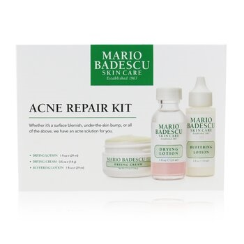 Mario Badescu Acne Repair Kit: Drying Lotion 29ml + Drying Cream 14g + Buffering Lotion 29ml