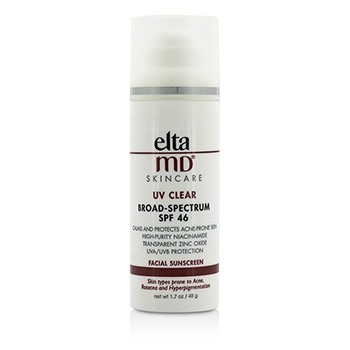 EltaMD UV Clear Facial Sunscreen SPF 46 - For Skin Types Prone To Acne, Rosacea & Hyperpigmentation
