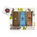 Crabtree & Evelyn Ultra-Moisturising Hand Therapy Set: Gardeners 50g + La Source 50g + Pomegranate, Argan & Grapeseed 50g