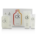 Calvin Klein CK One Coffret: EDT Spray 200ml/6.7oz + Body Wash 100ml/3.4oz + Skin Moisturizer 200ml/6.7oz + EDT 15ml/0.5oz