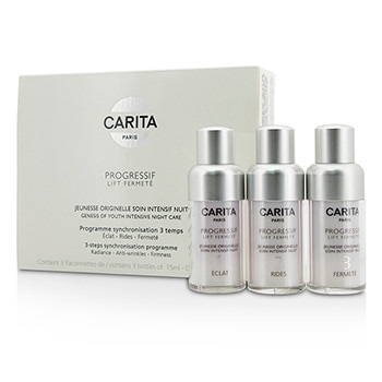 Carita Progressif Lift Fermete Genesis Of Youth Intensive Night Care 3-Steps Synchronisation Programme
