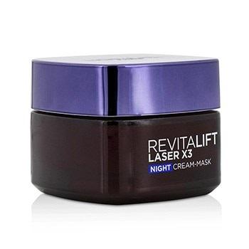 L'Oreal Revitalift Laser x3 New Skin Anti-Aging Night Cream-Mask