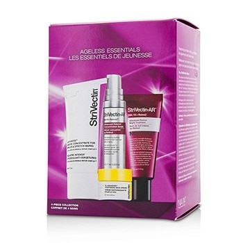 StriVectin Ageless Essentials Kit: Serum 7ml + Concentrate For  Wrinkles & Stretch Marks 30ml + Night Treatment 33ml + Neck Cream 7ml
