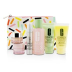 Clinique Travel Set: Sonic Facial Soap + Clarifying Lotion 3 + DDMG + Smart Serum + Moisture Surge Intense + All About Eyes + Bag