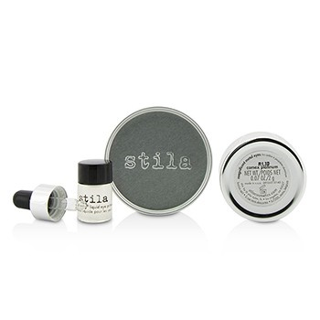 Stila Magnificent Metals Foil Finish Eye Shadow With Mini Stay All Day Liquid Eye Primer - Comex Platinum