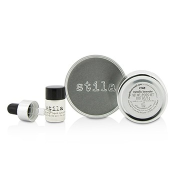 Stila Magnificent Metals Foil Finish Eye Shadow With Mini Stay All Day Liquid Eye Primer - Metallic Lavender