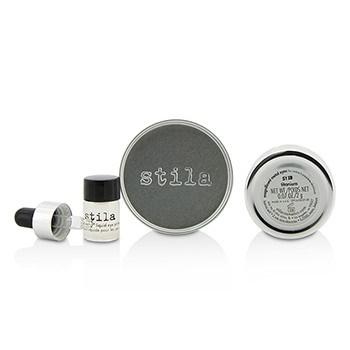 Stila Magnificent Metals Foil Finish Eye Shadow With Mini Stay All Day Liquid Eye Primer - Titanium