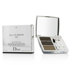 Christian Dior All In Brow 3D Long Wear Brow Contour Kit (2x Eyebrow Powder, 1x Eyebrow Wax, 3x Mini Applicator) - # 001 Brown