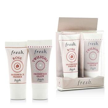 Fresh Prime & Glow Set Duo Pack : 1x Mini Rose Freshface Primer, 1x Mini Twilight Freshface Glow
