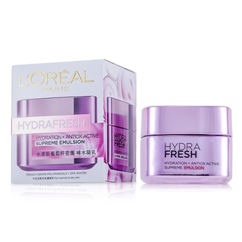 L'Oreal Hydrafresh Hydration+ Antiox Active Supreme Emulsion (Manufacture Date: 02/2014)