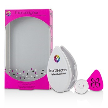 BeautyBlender Liner Designer (1x Eyeliner Application Tool, 1x Magnifying Mirror Compact, 1x Suction Cup) - Pink