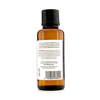Erbaviva Back Rub Oil