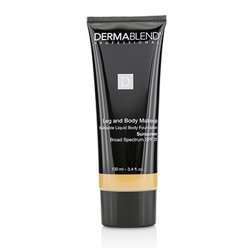 Dermablend Leg and Body Makeup Buildable Liquid Body Foundation Sunscreen Broad Spectrum SPF 25 - #Medium Natural 40N