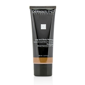 Dermablend Leg and Body Makeup Buildable Liquid Body Foundation Sunscreen Broad Spectrum SPF 25 - #Deep Natural 85N
