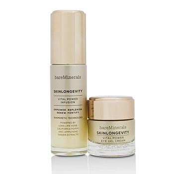 BareMinerals Skinlongevity Vital Power Infusion & Eye Gel Cream Duo Set: Vital Power Infusion 30ml + Vital Power Eye Gel Cream 15g