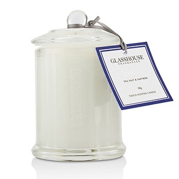 Glasshouse Triple Scented Candle - Cyprus (Sea Salt & Saffron)