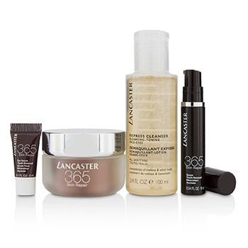 Lancaster 365 Skin Repair Set: Youth Renewal Day Cream 50ml+ Serum Youth Renewal 10ml+ Eye Serum 3ml+ Express Cleanser 100ml