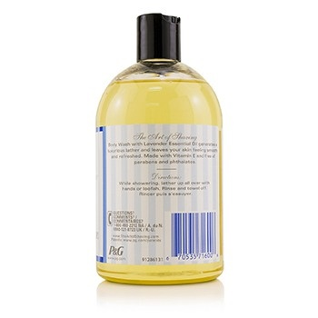 The Art Of Shaving Body Wash - Lavender Essential Oil