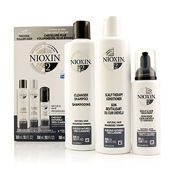 Nioxin 3D Care System Kit 2 - For Natural Hair, Progressed Thinning, Light Moisture