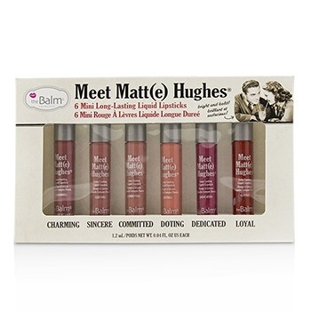 TheBalm Meet Matt(e) Hughes 6 Mini Long Lasting Liquid Lipsticks Kit