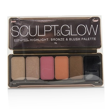BYS Sculpt & Glow Palette (Highlight, Bronze & Blush)