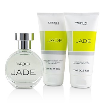Yardley London Jade Coffret: EDT Spray 50ml/1.7oz + Luxury Body Wash 75ml/2.5oz + Moisturising Body Lotion 75ml/2.5oz
